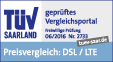 DtGV Testsieger DSL-Vergleich, TÜV service tested