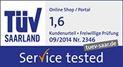 Getestet.de, TÜV service tested