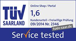 TÜV Saarland - Service tested