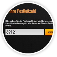 Ihre Postleitzahl Naheaufnahme