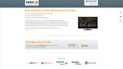 Jetzt wechseln mit der Verivox Smart TV App Bildschirm
