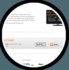 Jetzt wechseln mit der Verivox Smart TV App Nahaufnahme
